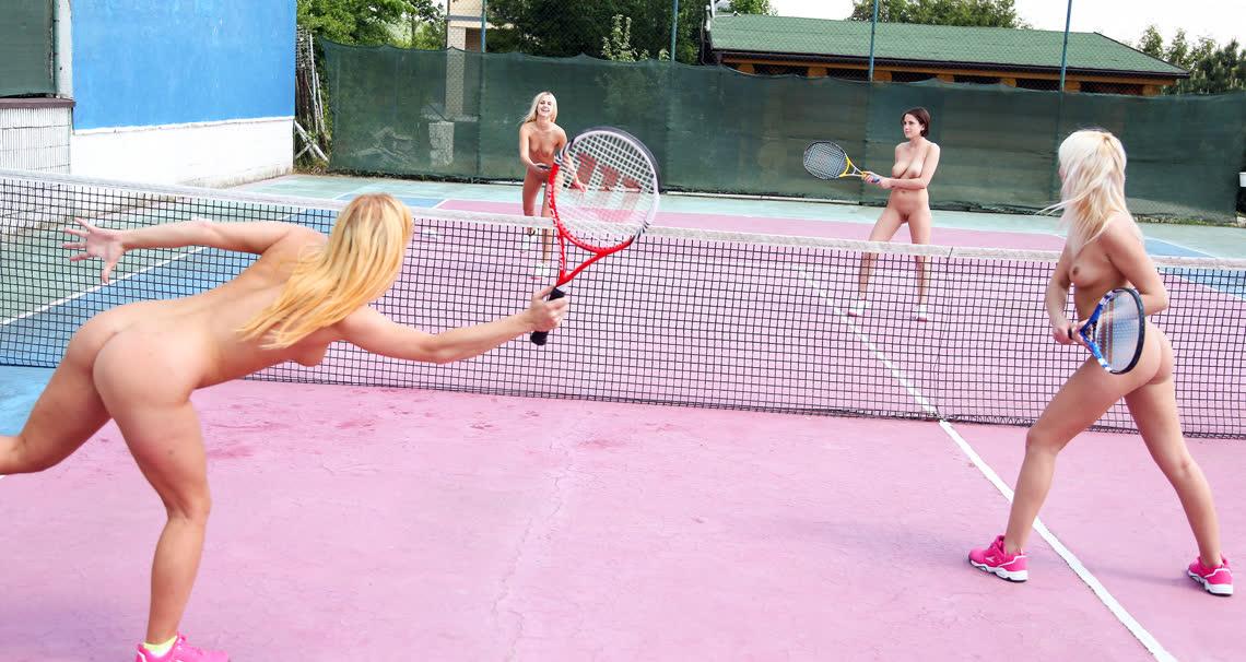 Teen catfight at the tennis court - Club Seventeen