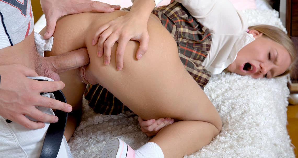 Slutty teen gets her ass banged - Club Seventeen