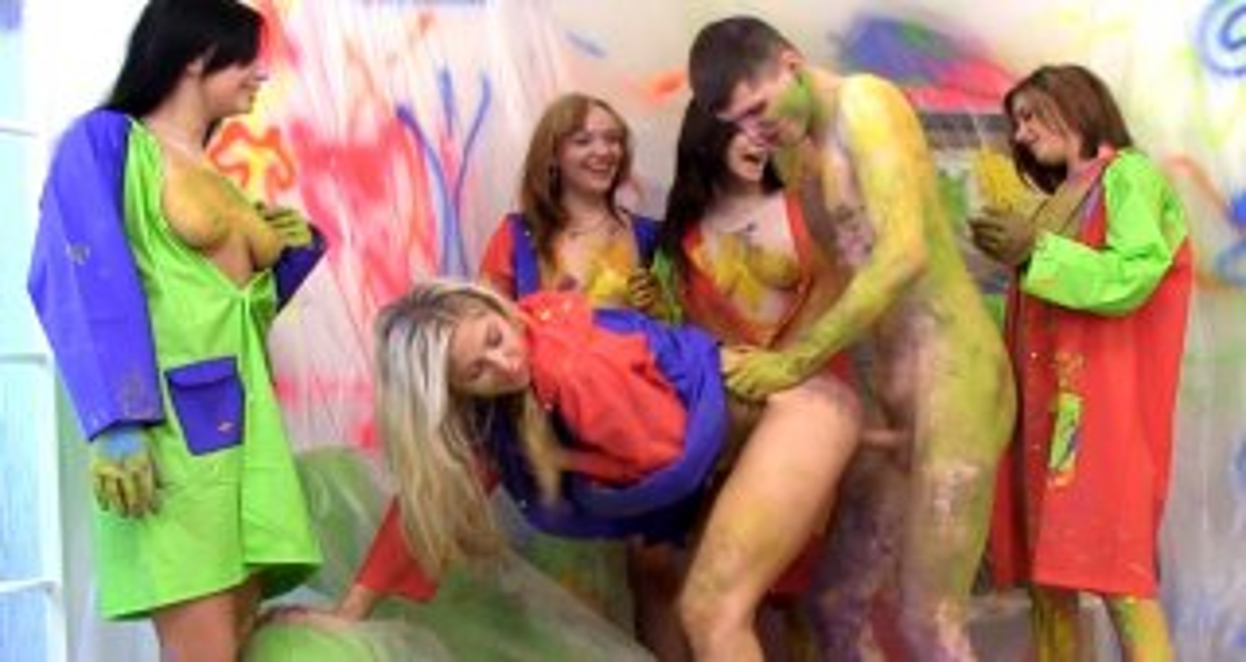 Hot body paint fuck - Club Seventeen