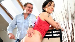 Hot babe and her tutor - Teen Mega World