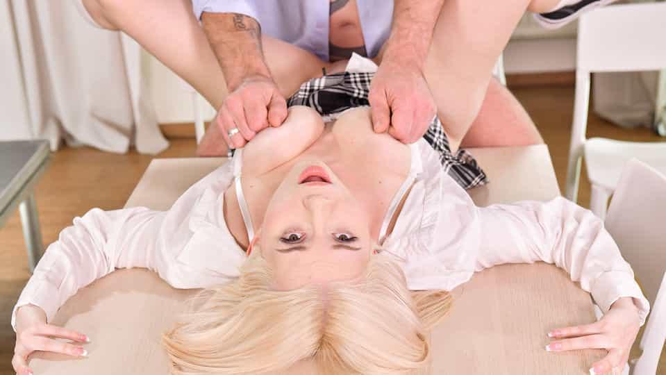Blonde Schoolgirl's Lessons In Penetration - Euro Teen Erotica