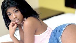 Black Teen Beauty Squirts On Our Camera - Teeny Black