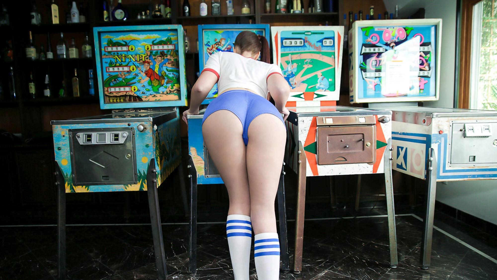Teen Pinball Wizard Hits The Creampie Jackpot - Teen Pies